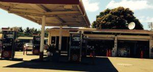 ガソリンスタンドのパンク修理
